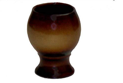 K&K Keramik Weinkelch/Rumtopfkelch aus Steinzeug 0,3 Liter braun-geflammt