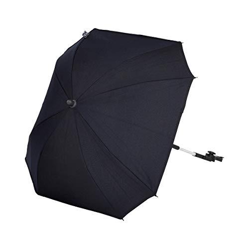 ABC Design Universal Sonnenschirm Sunny – für Kinderwagen und Buggy – UV-Schutz 50+ – Universalhalterung für Rund- und Ovalrohre – Farbe: shadow