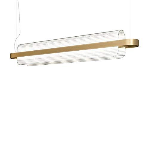 Kundalini Nami LED lampada a sospensione, ottone trasparente 2700K 4800lm CRI  80dimmerabile Push 1–10V LxBxH 150x 15x 23cm