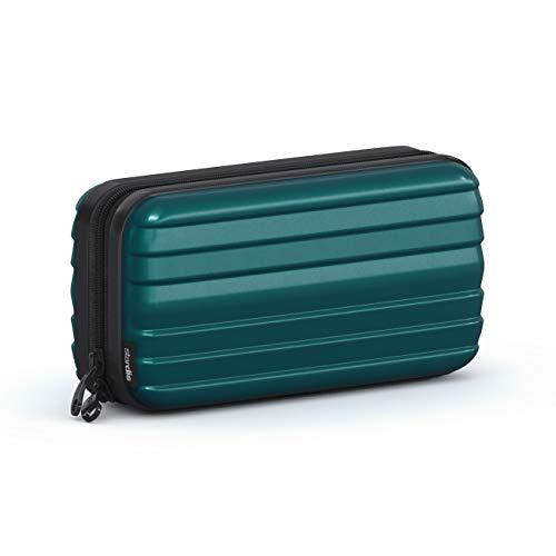 stardis Trousse rigida per cosmetici, da donna, uomo, da donna, per la cultura, a forma di valigia, impermeabile, mini borsa per il lavaggio per donne, uomini, bambini (verde)