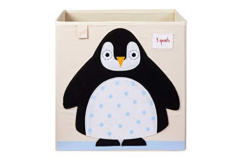 3 Sprouts - Contenitore cubico - Contenitore per bambini e bambini piccoli, Pinguino