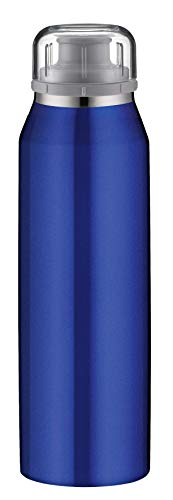 alfi isoBottle Isolier-Trinkflasche, Thermoflasche, Isolierflasche, Real Pure Blau, 0,5 Liter