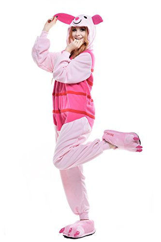 NEWCOSPLAY Christmas Piglet Pig Pajamas Cosplay Onesies Costume (L, Piglet Pig)