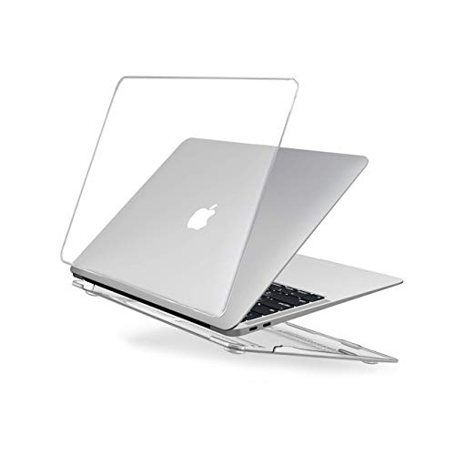 EooCoo Custodia Macbook Air 13 Pollici M1 A2337 A2179 A1932, Plastica Copertina Rigide Compatibile per Macbook Air 13 con Retina Display, 2020 2019 2018 Pubblicazione - Cristallo Trasparente