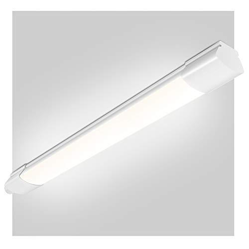 LED Feuchtraumleuchte 60CM, Oeegoo 14W 1400LM(100LM/W), Flimmerfreie LED Deckenlampe, IP65 Wasserfest LED Feuchtraumlampe, 60CM Röhre für Feuchtraum Garage Lager Werkstatt Garten 4000K