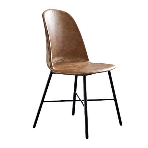 TXXM Silla de comedor, silla de escritorio simple, respaldo creativo, silla de ocio, silla de comedor para adultos (color: marrón claro)