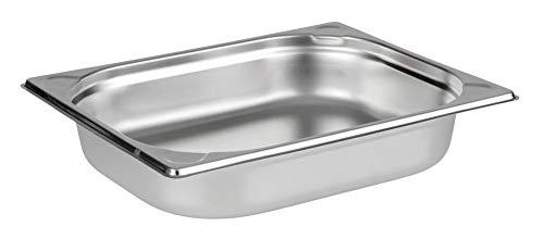 APS 81200 GN-Behälter 1/2, Gastronormbehälter Edelstahl/Abmessungen 265 x 325 mm/Höhe 20 mm/Volumen 1 Liter