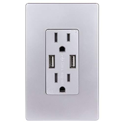 stainless steel 15 amp outlets - 7