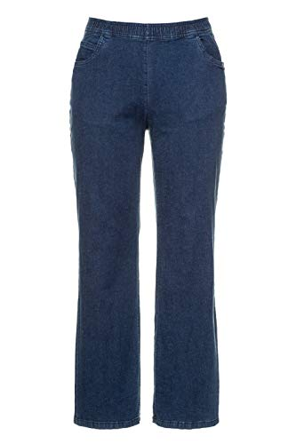 Ulla Popken Damen Weite Marlene, Mary Jeans, Dark Denim, 48