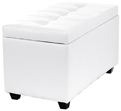 Wink design - Wichita Falls - Coffre de rangement blanc - simili-cuir
