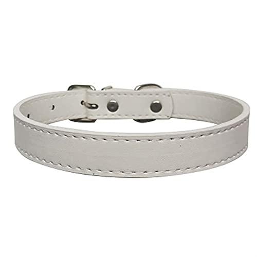 JHGJHG Collares de Perro Collar de Gato Perrito Bufanda Tamaño Ajustable Adecuado para Mascotas Medianas y pequeñas (Color : White, Size : 2.5x52cm)