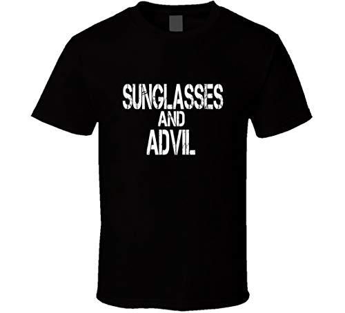 HABAH Zonnebril en Advil T-shirt Zwart - groen - L