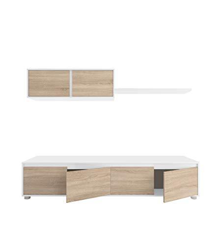 Habitdesign 0F6663A - Mueble de salón moderno, modulos comedor Alida, acabado...
