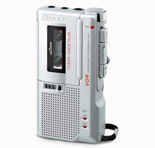 Newly Reconditioned Sony M-650V Handheld Microcassette Voice Recorder Includes 3 Tapes & Batteries