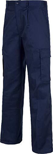 Work Team Pantalón. Elástico en cintura, multibolsillos: dos bolsos laterales en perneras. HOMBRE Marino 48