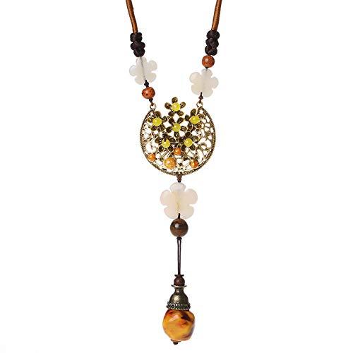 Barrettes Hoofdbanden Accessoires Vintage Ketting Vrouwelijke Nationale Stijl Lange Joker Trui Hanger Dongling Jade Decoratie Mode Ornament