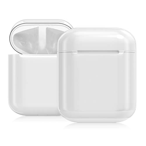 kwmobile Hülle kompatibel mit Apple AirPods - Hardcover Schutzhülle Etui Hülle Cover Kopfhörer - Transparent