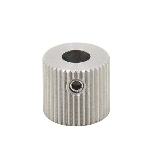 XBaofu 1PC 40 Zähne Bohrung 5mm Extrudereinzug Pulley for MakerBot MK7 MK8 Edelstahl ZAHNRIEMENRAD Getriebe 3D-Drucker-Teile