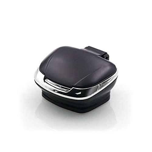 XDYNJYNL Posacenere per auto portatile, portacenere da giardino Mini posacenere per auto ignifugo impermeabile rimovibile facile da pulire con coperchio Posacenere per sigarette con luce a led blu - N