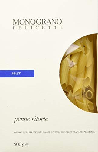 Penne Ritorte, Monograno Matt 500 G - Felicetti