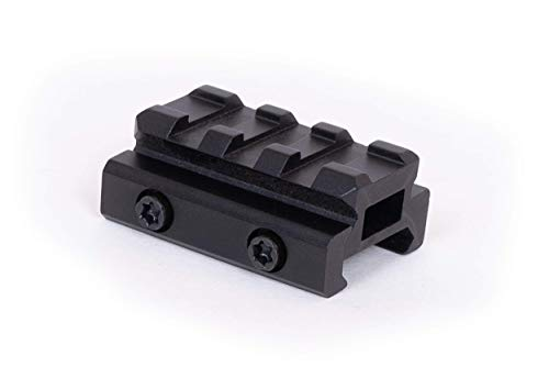 Monstrum Lockdown V3 Picatinny Riser Mount with Recoil Stop Base   1.5 inch Length   Low Profile