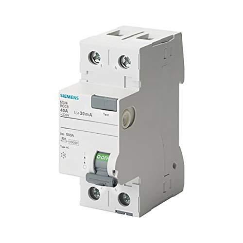 Siemens 5sv - Interruptor diferencial clase-ac 2 polos 63a 30ma 70mm