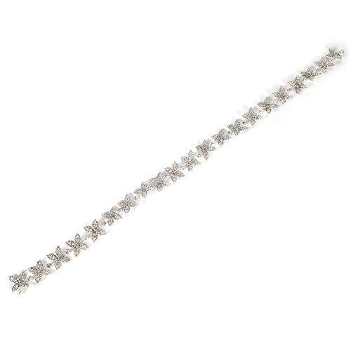 Kristall Strass Kette, Kristall Glas Strass, Exquisite Star Shape Kleidung Accessoires, Schön für Brautkleider Halsketten