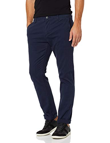 Dockers Herren Tapered Hose BIC PACIFIC WASHEDI SLIM-STRETCH TWILL, Gr. W40/L34 (Herstellergröße: 40), Blau (PEMBROKE 3)