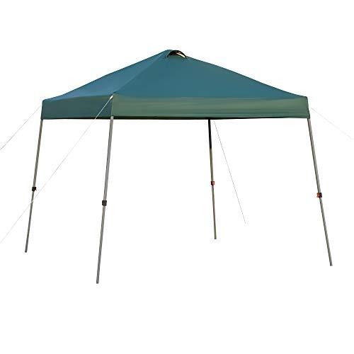 Outsunny Cenador Plegable 3x3m Portátil de Jardín con Bolsa de Transporte con Ruedas Acero para Exterior Fiestas Camping Verde
