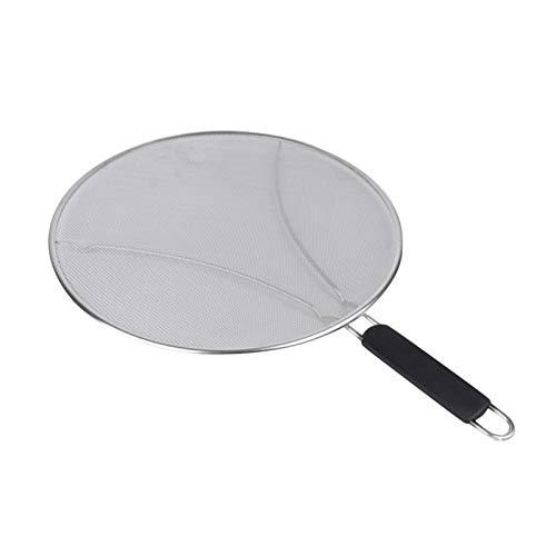 MODGS Edelstahl-Feingitter-Splatter-Sieb mit ruhenden Füßen Set Splatter-Sieb Bratpfanne Fettschutzschild mit Griff zum Kochen Grillen Grill