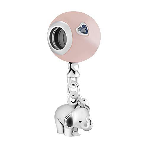 925 zilveren hanger voor dames, mode romantisch kettingloos schattig roze ballon olifant dier vorm charme hanger voor dames sieraden accessoire verjaardag cadeau partij accessoires