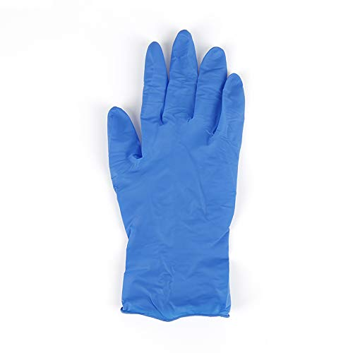 Control D Nitrile Medical Examination Disposable Hand Gloves, Blue, Large, 50 Pieces