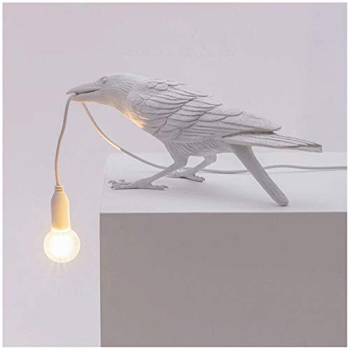 MEILINL Lámpara De Pared para Pájaros Muebles para Animales Luces De Aves Bird Decor con Interruptor Y Enchufe para Salón Dormitorio Y Oficina Decoración,Blanco,3