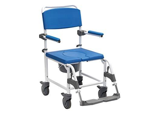 Drive Medical Dusch-Toilettenrollstuhl Aston weiß-blau