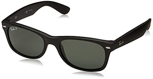 Ray-Ban New Wayfarer Gafas de Sol, Rubber Black, 55 para Hombre