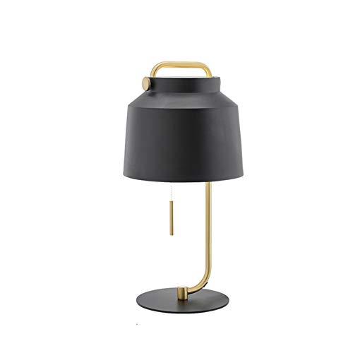 Lámpara de mesa Lámpara de mesa lámpara de noche Nightstand Negro Lámpara para el hogar para el dormitorio y la oficina de la lámpara Girly Dormitorio de la lámpara de escritorio Mesita de Noche Lámpa
