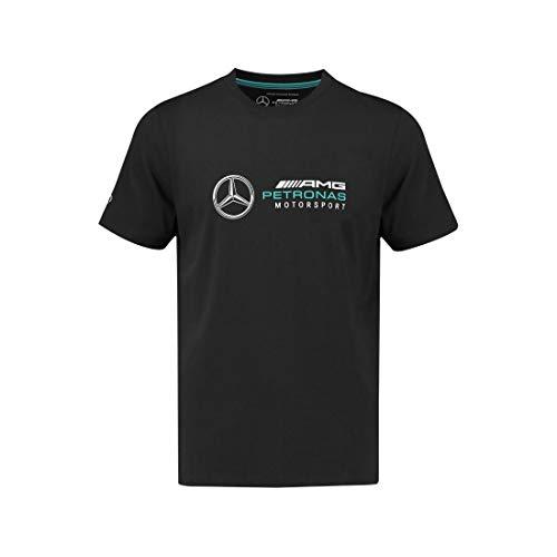 Formel-1 T-Shirt für Jugendliche, großes Logo, F1 Tech-Kollektion, weiß, Größe L (14–16), Jungen, schwarz, Youth M (10-12)