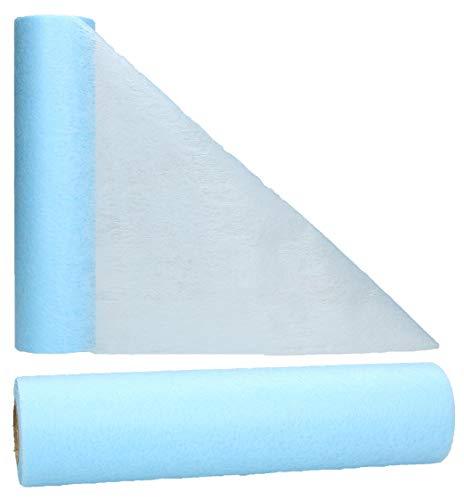 AmaCasa - Camino de mesa de fieltro (30 cm/25 m), azul claro, 30 cm…