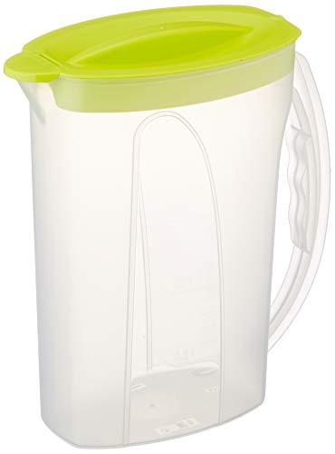 Rotho Fresh Kühlschrankkrug, 2 L, Kunststoff, Transparent/Apple Grün, 22.5 x 10.5 x 26.5 cm