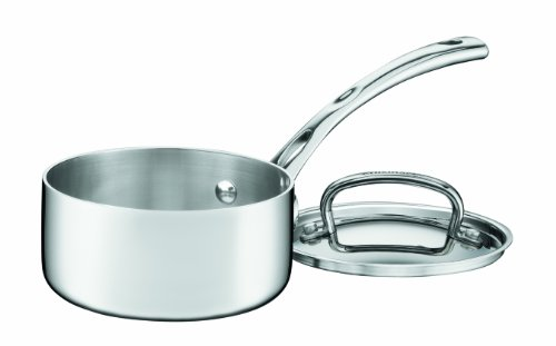 Cuisinart FCT19-14 French Classic Tri-Ply Stainless 1-Quart Saucepan with Cover,Silver
