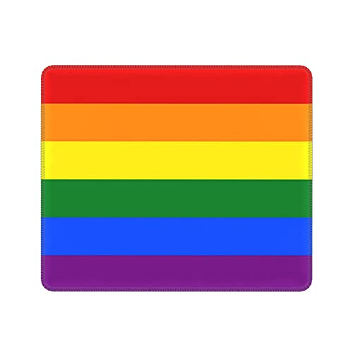 Rainbow Mouse Pad Gay Pride Mouse Pads Colourful Non-Slip Rubber Mousepad 7.9 X 9.5 Inch