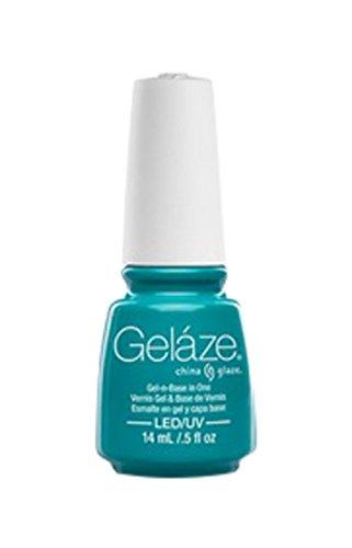 Gelaze Gel-N-Base Polish, Turned Up Turquoise, 0.5 Fluid Ounce
