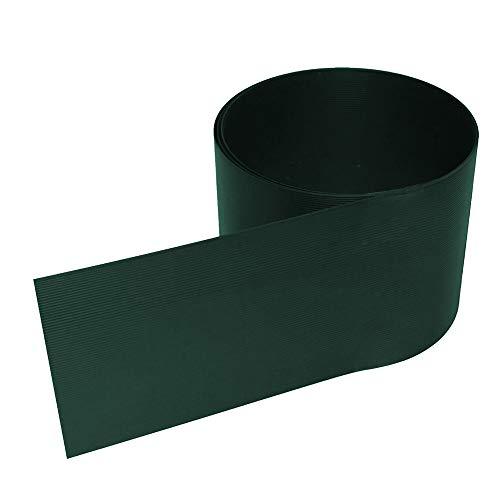 wolketon - Premium Hart PVC Sichtschutzstreifen für Doppelstabmatten - 10 Stück für Gartenzaun I 2,525mx19cm I Grün I Sichtschutz für den Zaun