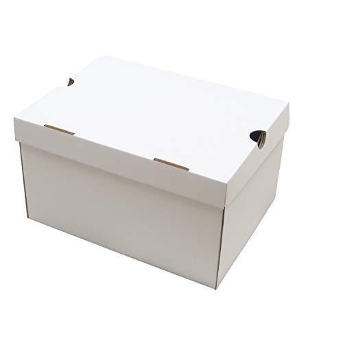 靴箱[N式タイプ] NO5(310×230×180) 白 5枚セット (シューズボックス ダンボール 段ボール 靴収納ボックス ホワイト)