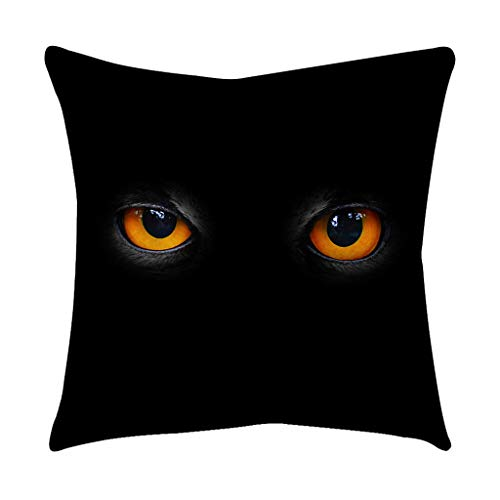 Kissenbezug Katzen Augen Muster Schwarz Gothic Punk Kopfkissen Wohnzimmer Schlafzimmer Zimmer Party Deko Reisekissen Pillowcase Kissenhülle Dekokissen Sofa Auto Bed Decor Sofakissen Zierkissen