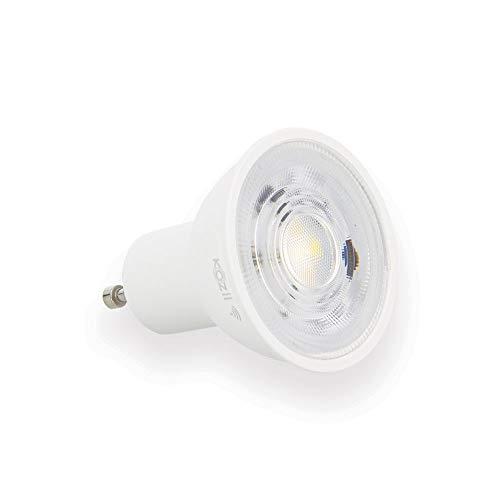Xanlite PACK2KG50SCCT - Lote de 2 focos de 5 W con variación de luminosidad (conexión a Alexa y Google Home, bombilla LED GU10 400 lúmenes, PACK2KG50SCCT, 9 W, CCT, normal