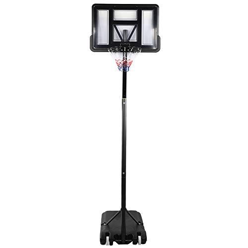 Nuobi Aro de Baloncesto, Soporte de Baloncesto de Altura Ajustable, Aro de Baloncesto extraíble portátil Accesorios para Deportes de Interior al Aire Libre Goles de Baloncesto para Adultos, niños