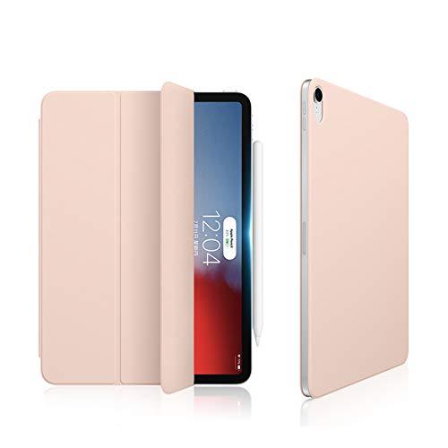 Ktong Funda Protectora para Tableta para iPad Pro 2018 de 12,9 Pulgadas, Funda Ligera para Soporte de Tableta con Ranura para lápiz y función de activación/suspensión automática,Rosado