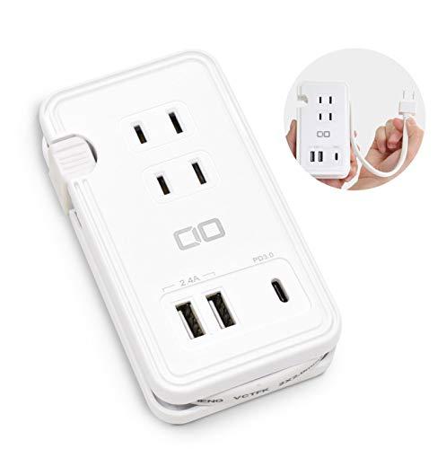 電源タップ USB-C PD 30W 【合計42W】 コンセント ACアダプター 急速充電器 3ポート Type-C 携帯 CIO-42W1C...