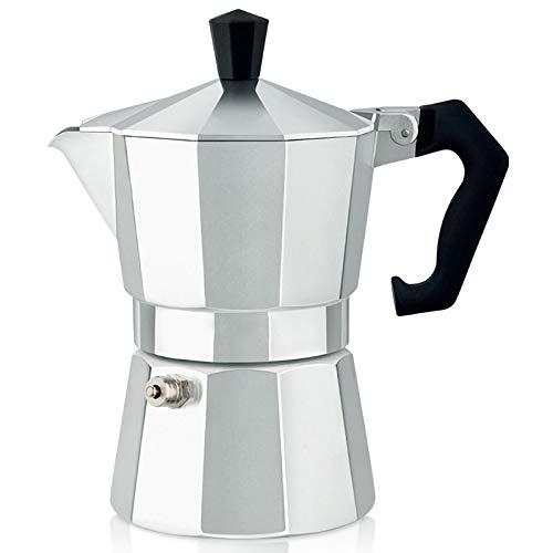 Andifany Cafetera Latte Moka Cafetera Cafetera Espresso Moka Italiana Cafetera Cafetera Cafetera de Placa 300Ml